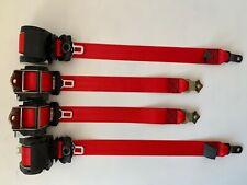 Juego de 4 cinturones de seguridad Rojos BMW e46 touring seatbelt