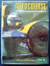 AUTOCOURSE 1993-1994 GRAND PRIX ANNUAL MOTOR RACING TOURING F1 F3 F5000