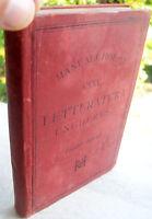 1892 MANUALE HOEPLI 'LETTERATURA UNGHERESE' PRIMA EDIZIONE DI ZIGANY ARPAD