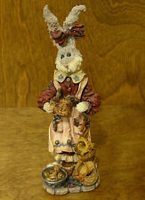 Boyds Folkstones #28401 Wendy Willowhare.A Tisket A Tasket, Nib Rabbit Easter