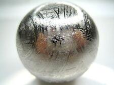 "GIBEON IRON METEORITE SPHERE 31 mm (1 1/8"") - 128 grams (solid)"