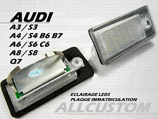 AUDI A6 RS6 4F 08-10 LEDS LED ECLAIRAGE BLANC XENON PLAQUE IMMATRICULATION