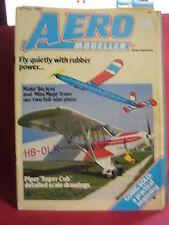 AEROMODELLER APRIL 1984 BO JESS MINI MOJO F/S PLANS PIPER SUPER CUB DRAWINGS