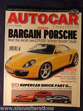 AUTOCAR Magazine 12th August 2003 Bargain Porsche