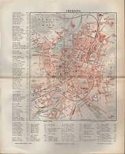 Landkarte city map 1895: Stadtplan: CHEMNITZ. Sachsen Deutschland Schloß-Teich