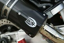 R&G Tri Oval Exhaust Protector Right RHS Can Cover EP0007BK
