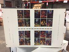 Rare 1996 STAR WARS SHADOWS OF THE EMPIRE TOPPS UNCUT PROMO Card Sheet, Rare