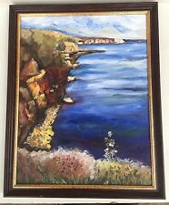 European Collectible Beautiful Oil Seascape Painting By V. Silozova 08.20.2011