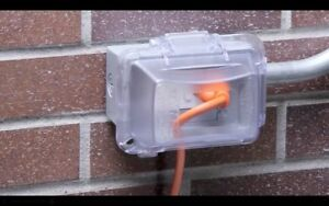 Outlet Protector Cover Outdoor Weatherproof Receptacle Electrical Box Accessory