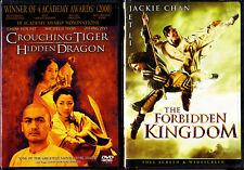 Forbidden Kingdom, Crouching Tiger Hidden Dragon (Dvd 2008, 2001) (new sealed)