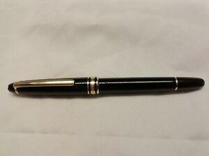Montblanc Meisterstuck Black Rollerball Pen Gold Trim