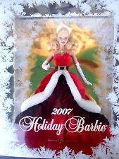 Mattel 2007 Happy Holidays Barbie K7958 unopened box complete good condition
