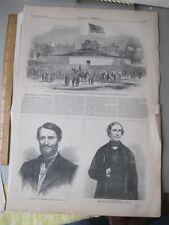 Vintage Print,TENT For DEMOCRAT CONVENTION,Chicago,1864,Harper's,Political