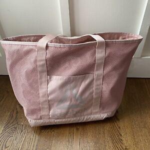 Reebok Dusty Pink Duffle Bag Gym Weekender Shoulder Strap Silver Large Carry All