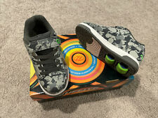 New listing New Heelys Skates Dual Up X2 Tennis Shoes Charcoal/Grey/Bright Green Sz Youth 1