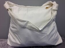 New Donna Karan Extra Large White Tote Purse Bag Beach Office Travel Shopper