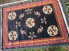 Vintage Wool Rug Large 230x170cm Royal Blue & Red