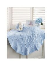(867) Knitting Pattern for Baby Round Blanket in Aran
