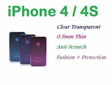 2X New iPhone 4 4G 4S Ultra Thin Crystal Clear Transparent Colorful Case Cover