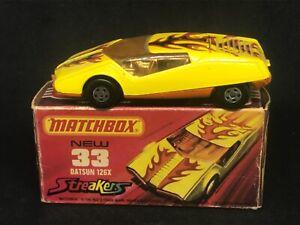 Matchbox Superfast MB33 B4 Datsun 126X w Type J Box