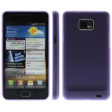 Para samsung s2/i9100 funda TPU/cover/bumper funda// color púrpura