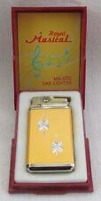 VINTAGE JAPAN ROYAL MUSICAL MR-500 GAS LIGHTER LARA SONG