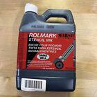 MARSH Rolmark Stencil Ink Jug Black 1 Quart