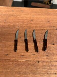Dollhouse Miniature Artisan set of 4 Steak Knives (R)