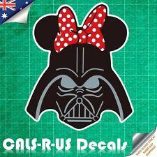 Star Wars Darth Hello Kitty Red Bow Luggage Skateboard Guitar Sticker Decal