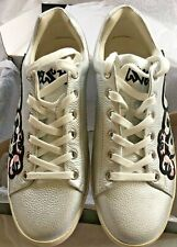 Silver Leather Trainers  - Size 6 NEW Beautiful