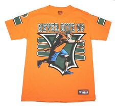 John Cena Never Give Up - You Cant See Me - Orange t Shirt Men's Size Small  WWE