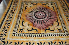 NEW STUNNING YELLOW/BROWN BEDSPREAD BED THROW DOUBLE WALL HANGING DOUBLE/QUEEN