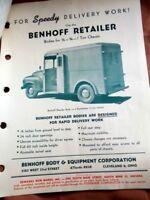 1949 Studebaker Truck Benhoff Retailer Body Sales Info Price List Letters