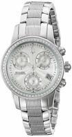 Bulova Accutron 63R136 Women's Round Analog Diamond Chronograph Date Watch