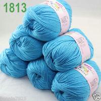 Sale 6 ballsx 50gr DK Baby Soft Cashmere Silk Wool hand knitting Crochet Yarn 13
