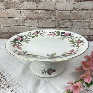 Wedgwood Hathaway Rose Pattern Very Rare Cake Stand (Repaired Pedestal)