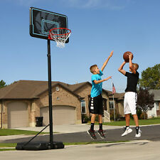 "Basketball Hoop 44"" Impact Adjustable Portable Court Backyard Driveway Sport"