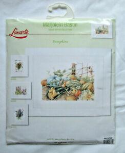 "Lanarte / Marjolein Bastin ""Pumpkins"" Counted Cross Stitch Kit 27 Count Fabric"