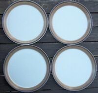 SET OF 4  MIKASA Potters Art BUCKSKIN Ben Siebel Stoneware Dinner Plates 10-3/4""