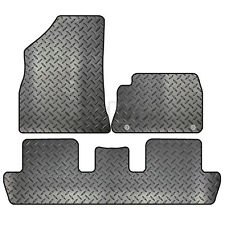 Peugeot 3008 2009 to 2016 Tailored 3 Piece Rubber Car Mat Set 2 Clips