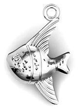 Un argent sterling fish charm/pendentif, 18 x 11 mm
