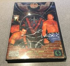 IWE June 2004 DVD Sid Vicious Eudy PCO Carl Ouellet SIGNED Autographed Wrestling