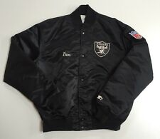 Vintage Los Angeles Raiders Starter Satin Jacket XL NWA Ice Cube Dr Dre 90s