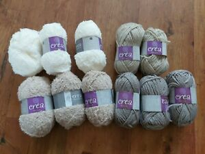 Crea Crafts Wool Moss, Shadow Tuff, Impasto Pebble, Grisaille Fog Mixed Lot