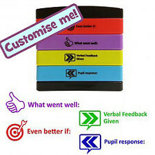 WWW, EBI, Verbal feedback, Pupil response Self-Inking Teacher Stamp. 4 Layer Mul