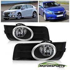 Fits 2011-2014 Chevrolet Cruze Driving Bumper Chrome Fog Lights w/ Bulbs+Switch