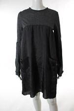 Marni Dark Pewter Gray Long Sleeve Babydoll Dress Italian Size 38
