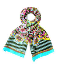 Oilily Flower Goa India Scarf in Olive