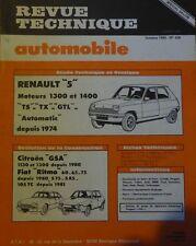 Neuve de stock ! Revue technique RENAULT 5 TS TX GTL AUTOMATIC 1108 RTA 426 1982