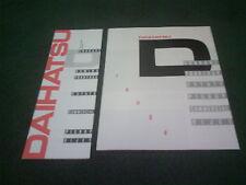 1988 DAIHATSU RANGE UK FOLDER BROCHURE + PRICE LIST GTTi Charade Fourtrak Hi Jet